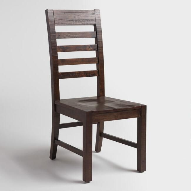 Distressed Wood Donnovan Dining Chairs Set Of 2 V1