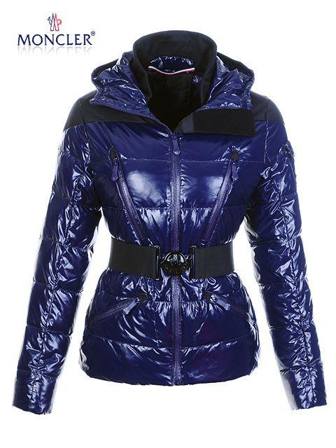 moncler shiny blue jacket