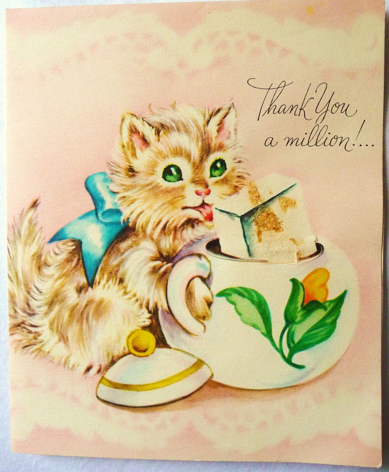 Vintage thank you card google search vintage thank you cards vintage greeting cards vintage thank you kristyandbryce Images