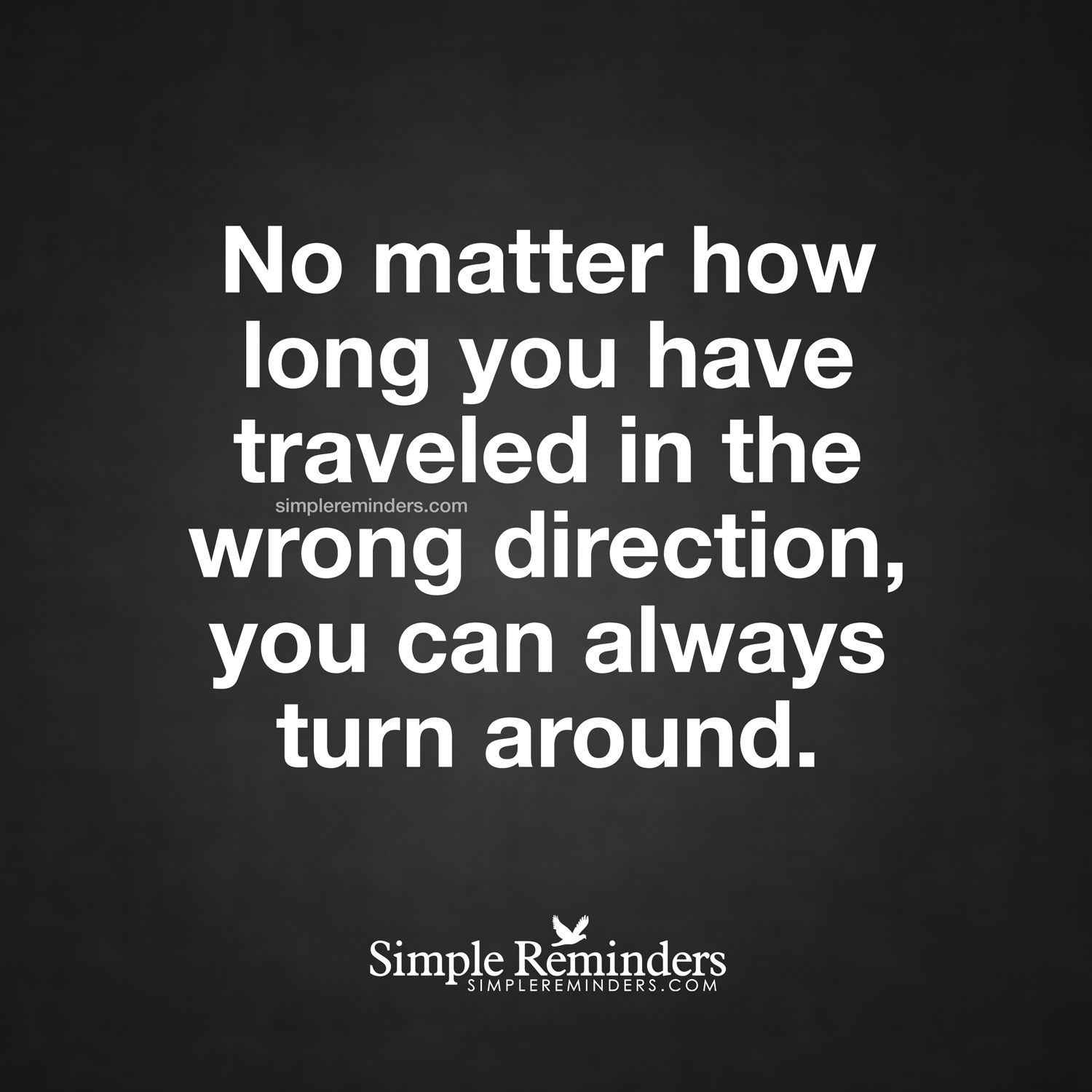 I Have No Direction In Life Quotes: You Can Always Turn Around No Matter How Long You Have