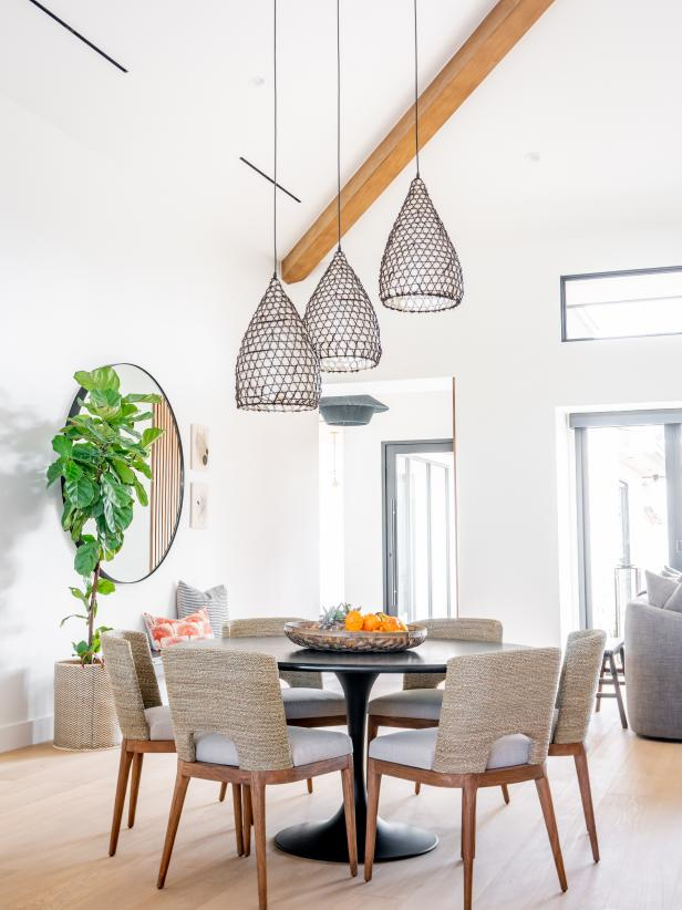 Living Space Pictures Hgtv Photos In 2020 Interior Design Dining Room Organic Dining Room Comfortable Furniture