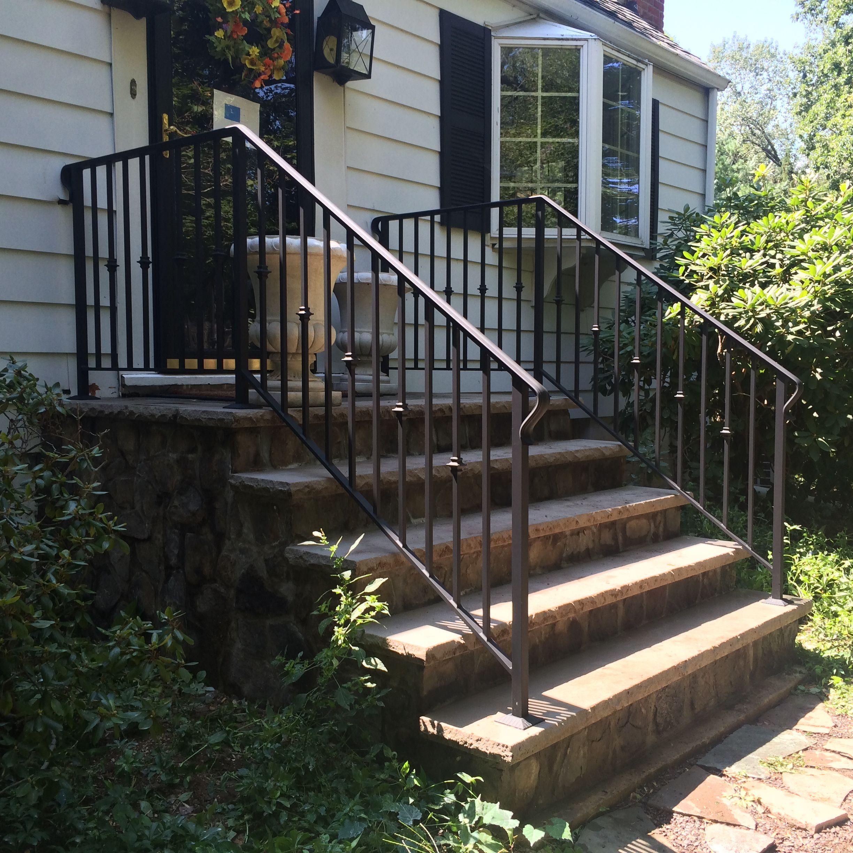 Best Exterior Standard Railing 6 Outdoor Stair Railing Wrought Iron Stair Railing Iron Handrails 400 x 300