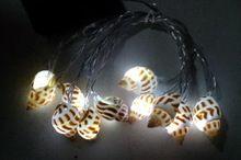 10pcs garden decorative solar seashell string LED light SO4726R