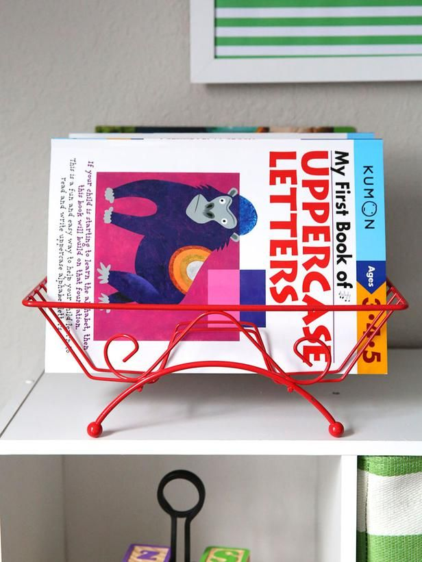 After Coloring Book Stand In Playroom Storage Ideas 5 Household Items To Repurpose From