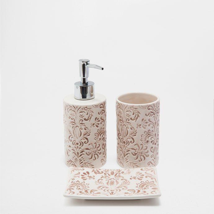 RAISED DESIGN BATHROOM SET | Bathroom design, Bathroom ...