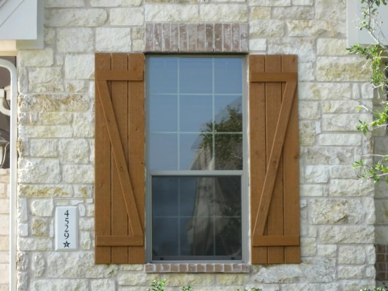 Decorative house shutters ideas exterior window shutter for Window design exterior