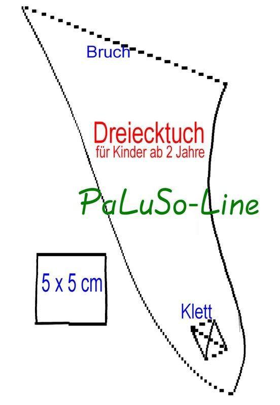 PaLuSo-Line: Vorlage Dreieckstücher | Nähen | Pinterest | Babies ...