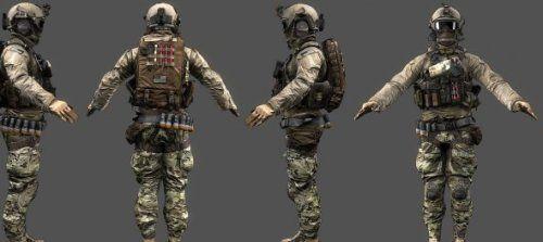 Download Freebies 3D - Free Us Assault Battlefield Character 3d