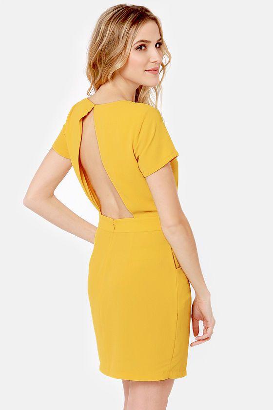64292071bf5 Sweet Yellow Dress - Backless Dress - Lace Dress -  64.00