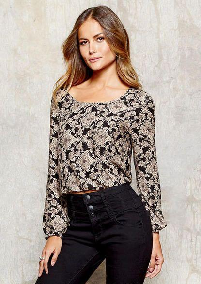 a364b27bc2b61 Harper Crop Blouse  MyAlloy  Blouses · Crop BlouseJeans DressDress ...