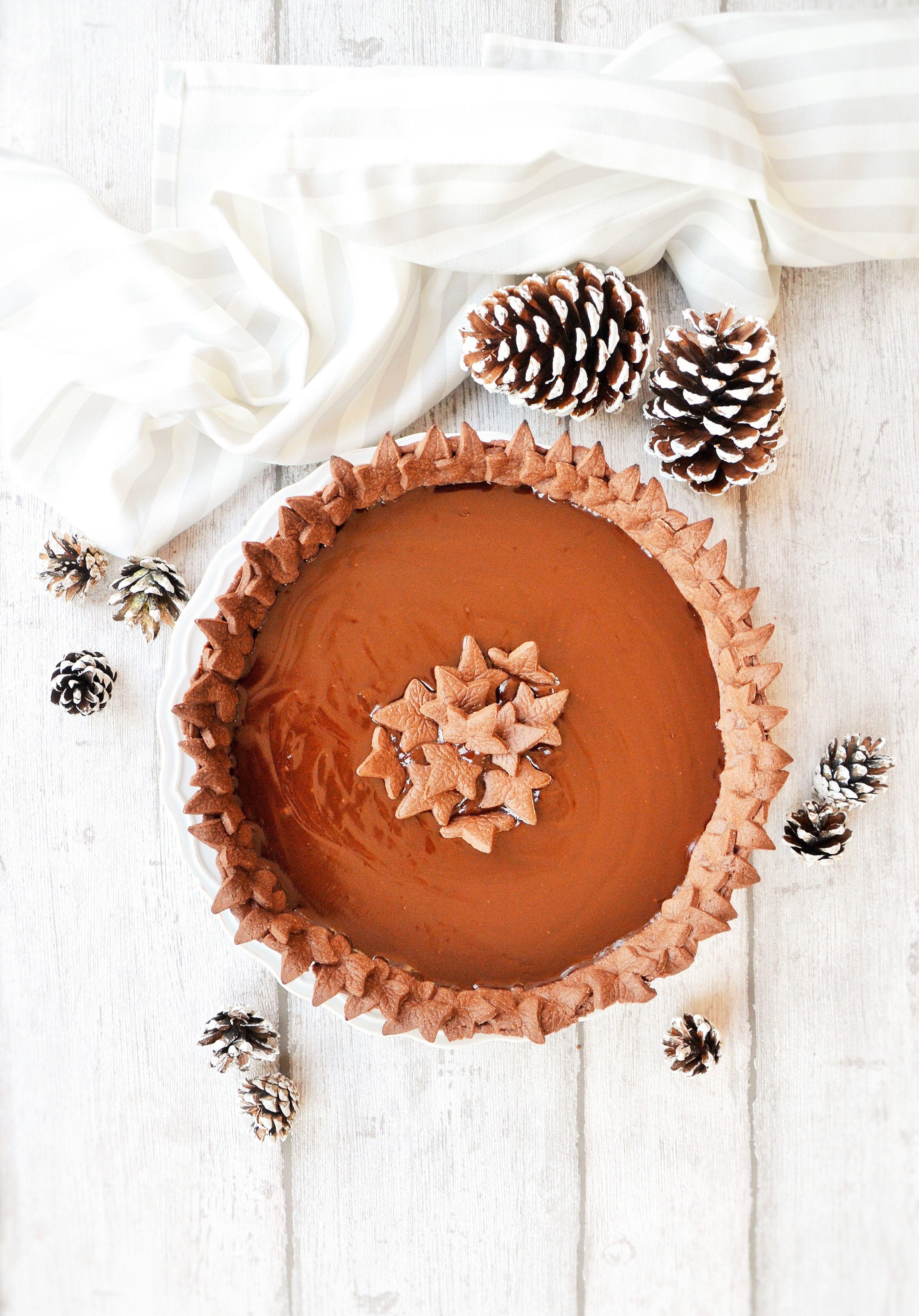 Photo of crostata al cacao con ganache al cioccolato fondente Le vogl