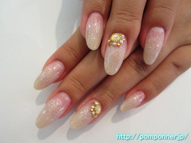 ラメのキラキラ感で透明感があってかわいいネイル cute nail if there