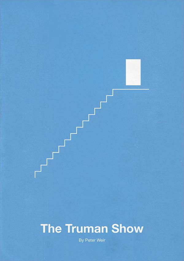 The truman show minimalism movie poster 12 minimalist for Minimal art historia sztuki