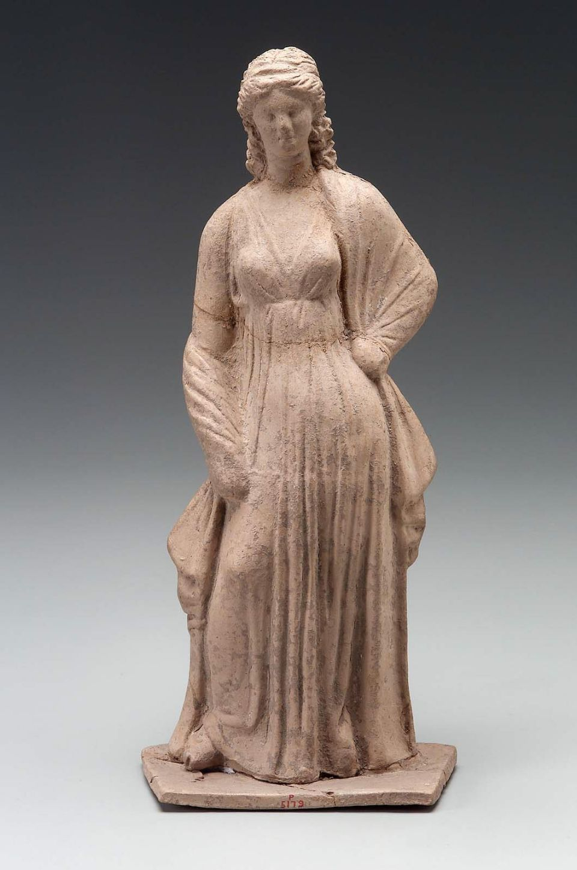Woman Standing Greek East Greek Hellenistic Period 3rd Century B C Findspot Myrina Aeolis Asia Minor Hellenistic Period Ancient Dress Hellenistic Art