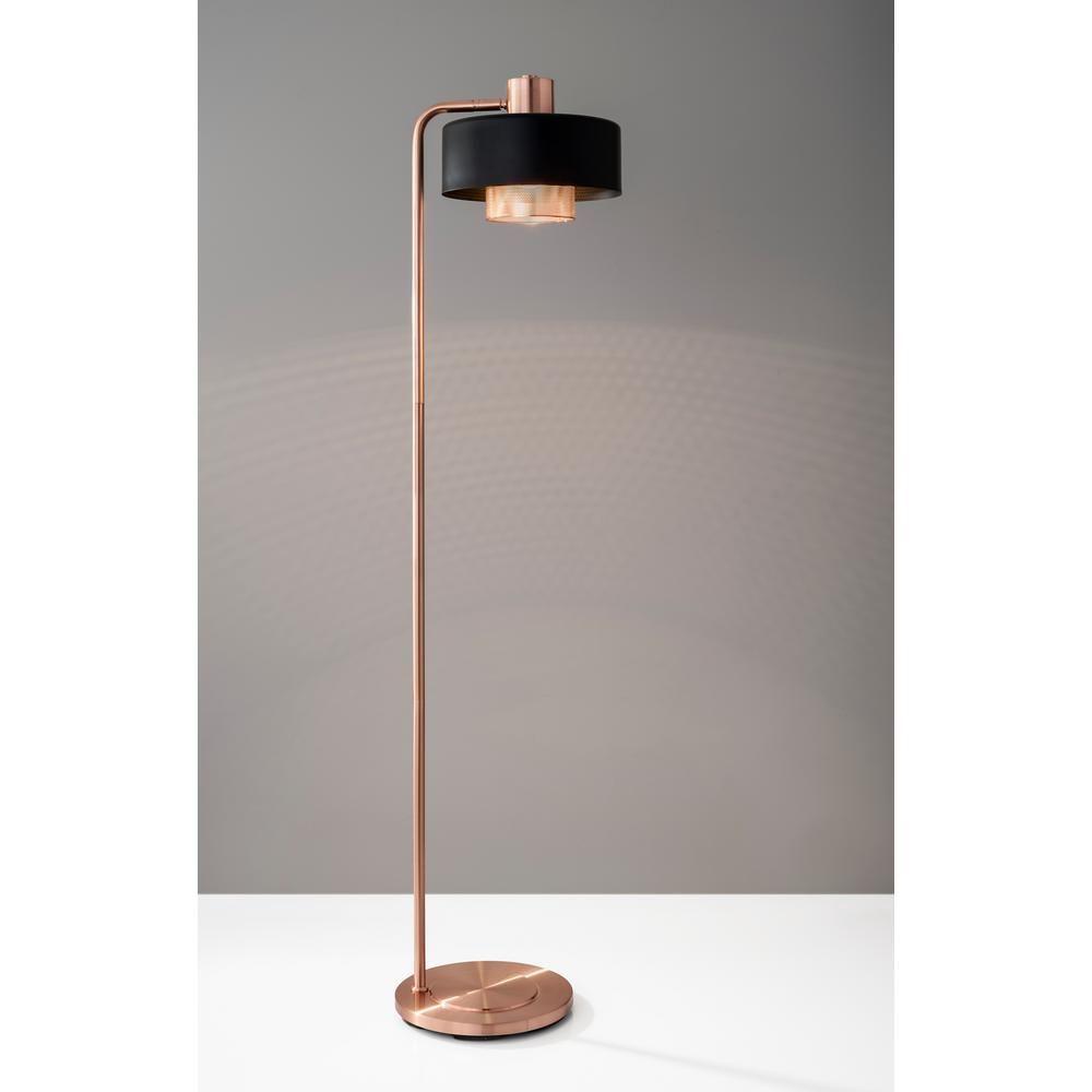 Adesso Bradbury 60 In Black Copper Floor Lamp 6049 20 The Home Depot In 2020 Copper Floor Lamp Arched Floor Lamp Floor Lamp