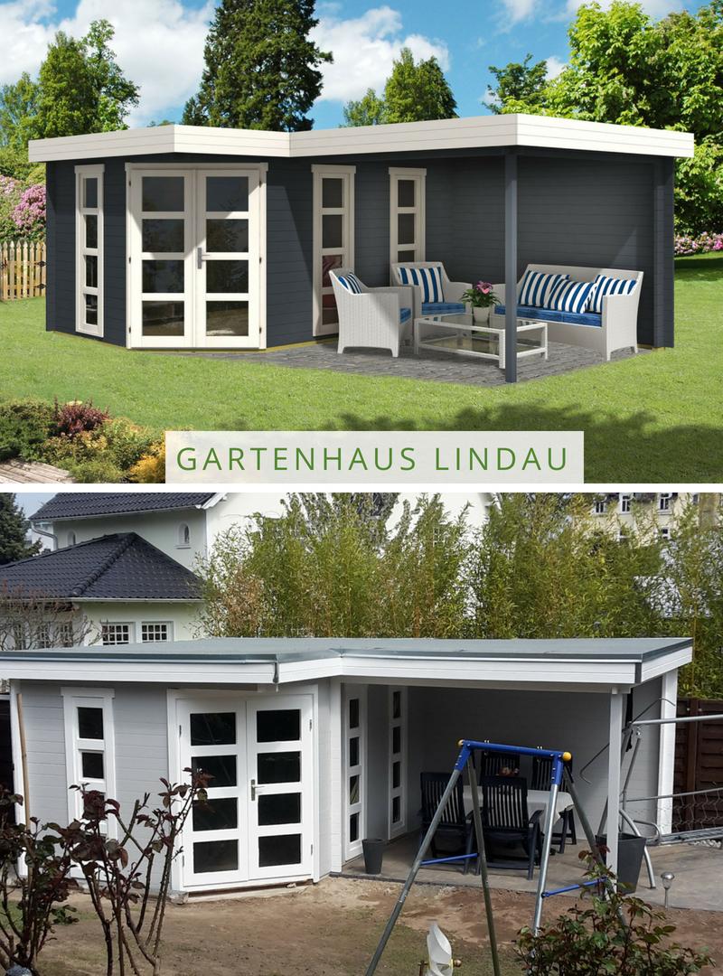 5Eck Gartenhaus Lindau40 mit Anbau in 2019 5 eck