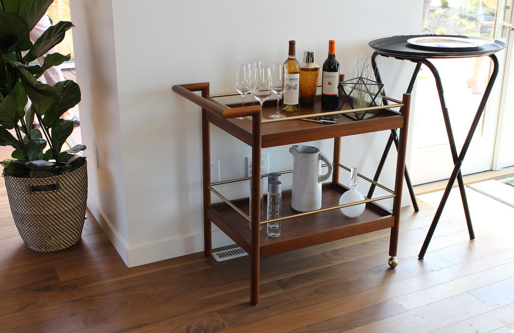 We couldn t believe that this gorgeous midcentury inspired bar cart