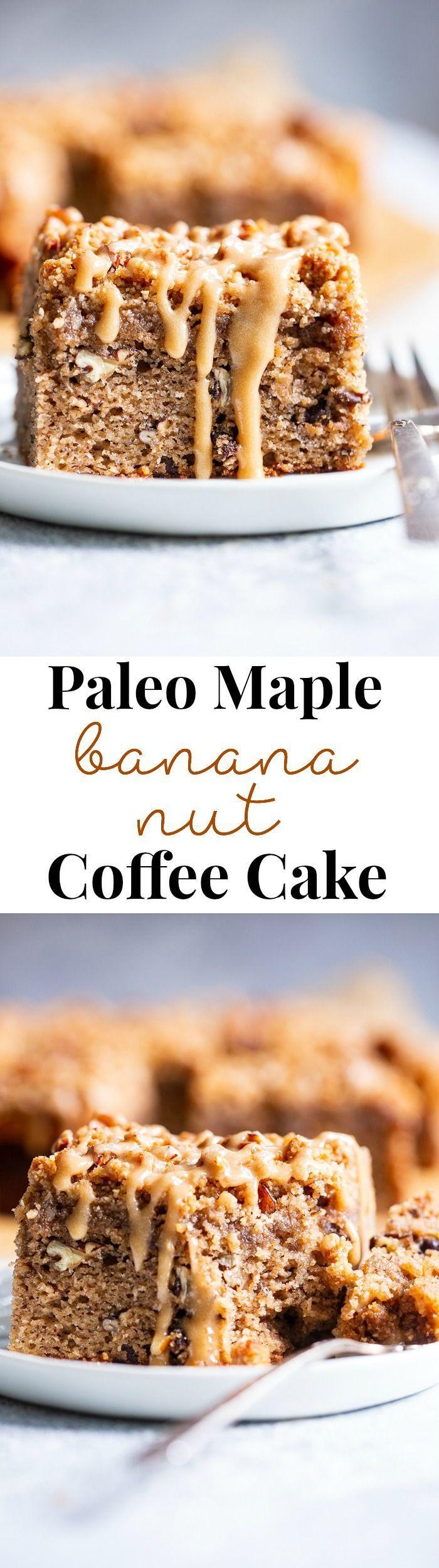 Bananen-Nuss-Kaffee-Torte {Paleo} Diese verträumte Zimt-Zucker-Bananen-Nuss-Kaffee-Torte … …