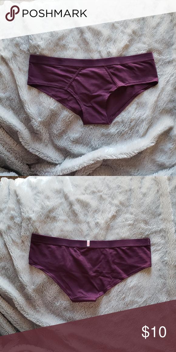 7ec255968784 Pink v.s. velvet trim hipster New Pink victoria secret hipster color:  maroon PINK Victoria's Secret Intimates & Sleepwear Panties