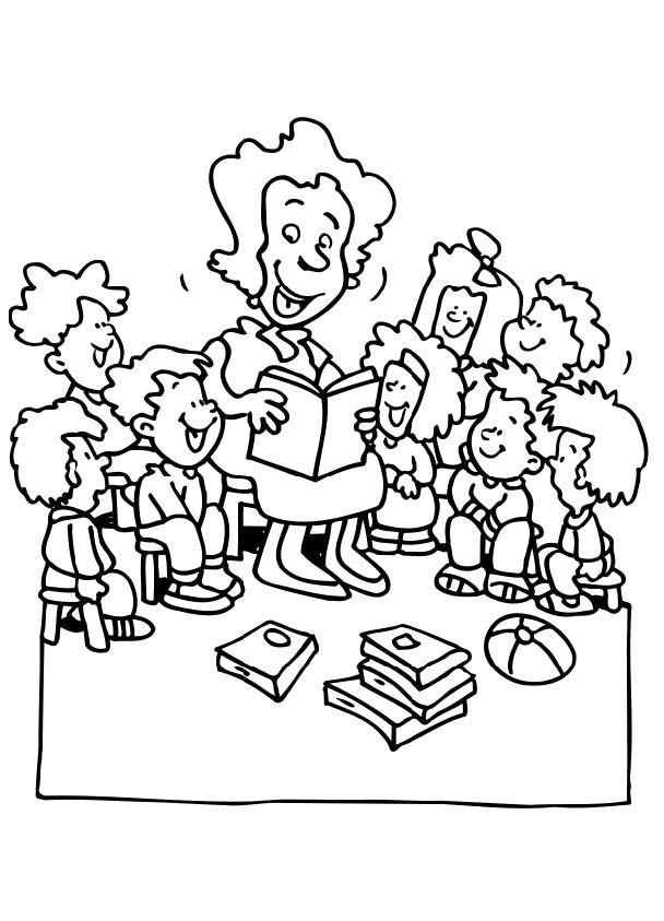 Teachers And Kids Coloring Pages Malvorlagen Fur Kinder Malvorlagen Zum Ausdrucken Kostenlose Ausmalbilder