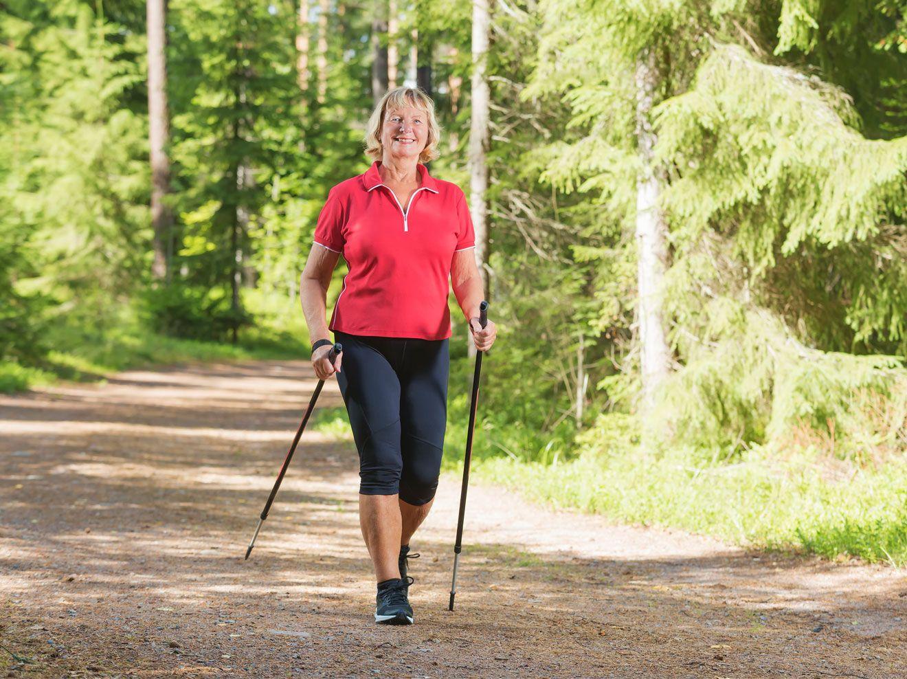 abnehmen durch nordic walking