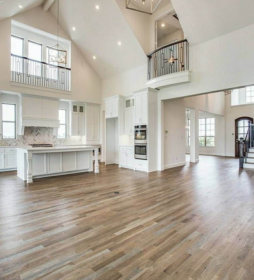 Most Popular Kitchen Flooring: Love This Open Concept Design?... Homes With Open Layouts