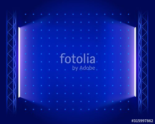 Stage podium with lighting Stage Podium Scene with for Award Ceremony on blue Background