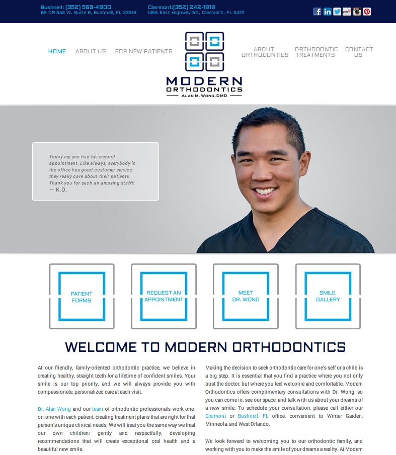 Sesamewebdesign Psds Ortho Responsive White Blue Gray Top Nav Full Width Sans Orthodontics Orthodontic Treatment Ortho