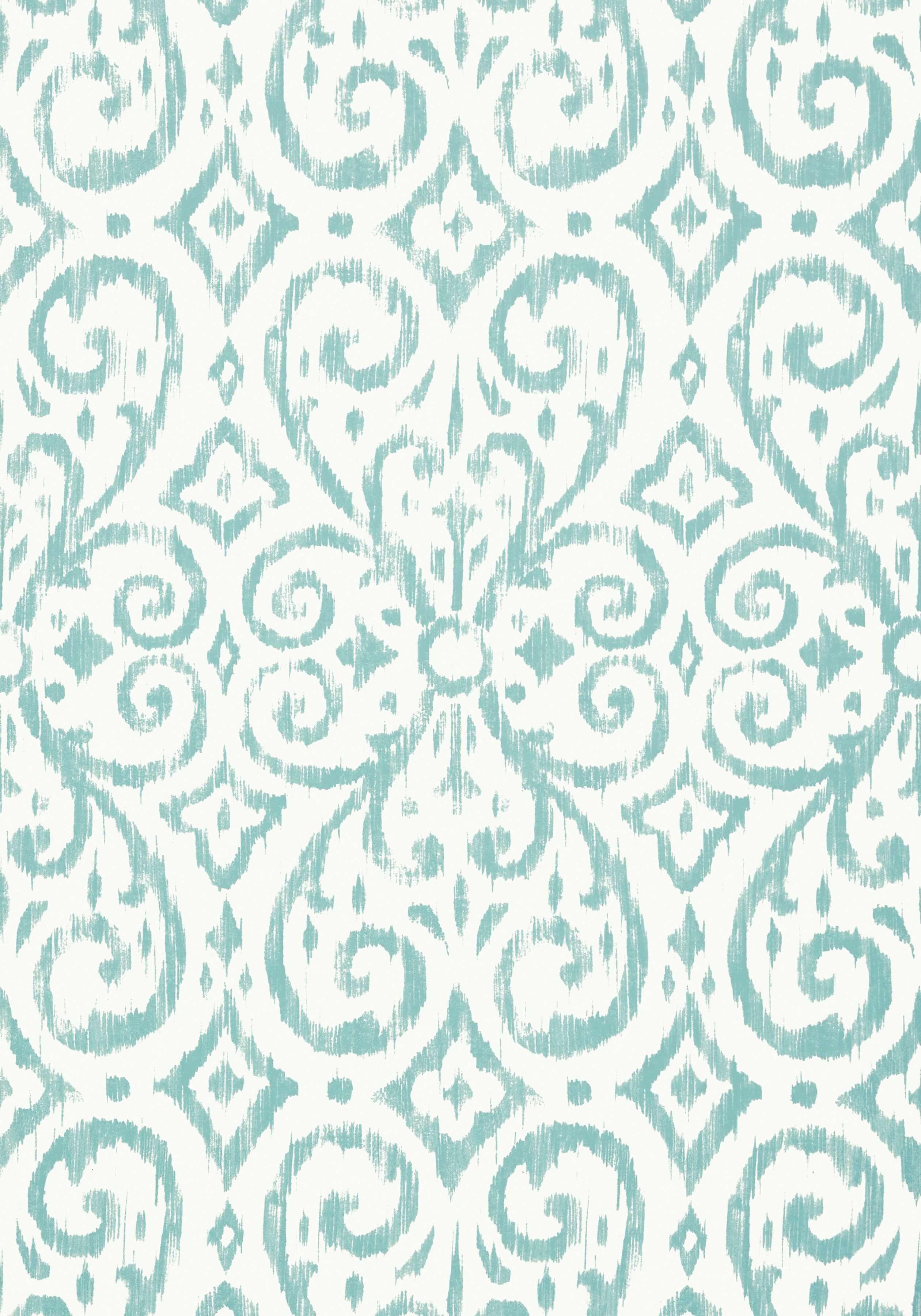 Badewanne Dusche Tapete Wallpaper For The Guest Bath Patara Ikat Aqua T64145 Collection