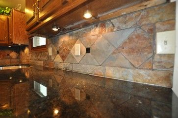Tile Backsplash With Dark Countertops Granite Counterto