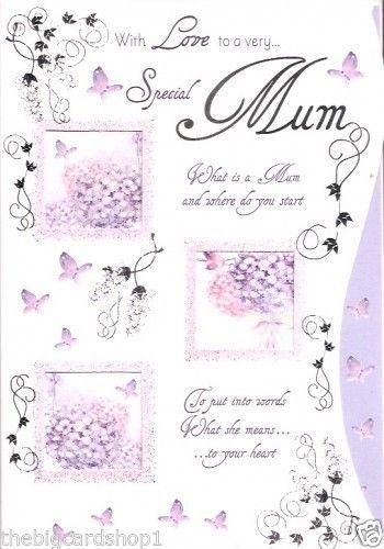 Mum Birthday Card Colour Insert Birthday Greeting Card Loving