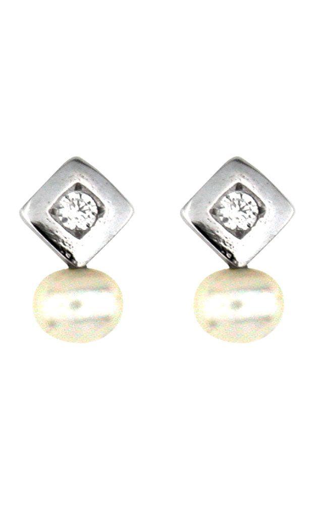 Pendientes Oro blanco 18Kts niña 54377-P/B/PE-CI