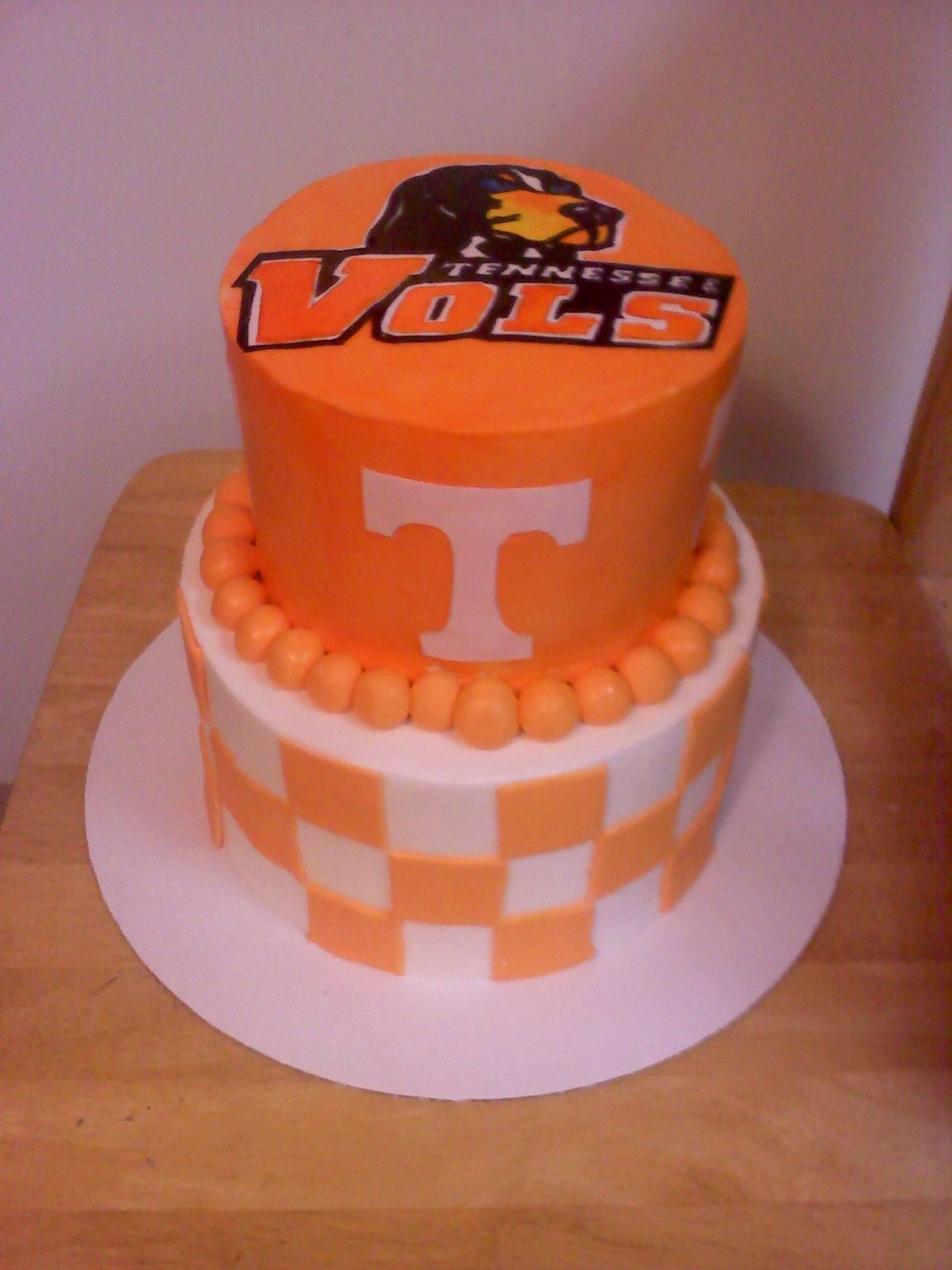 UT Vols Birthday Cake Tennessee Football University Of Softball Cakes