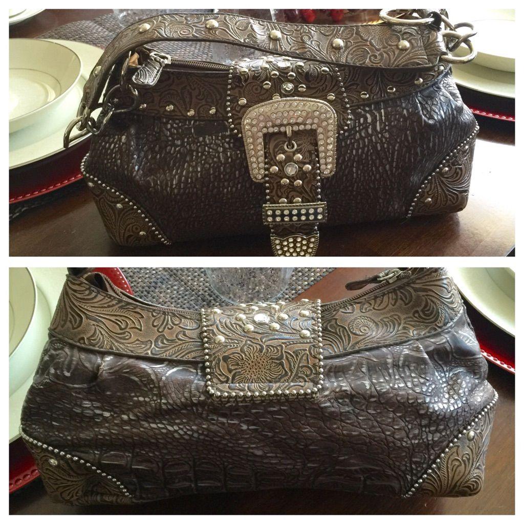 Gorgeous Bling Bling Scrolled Bag