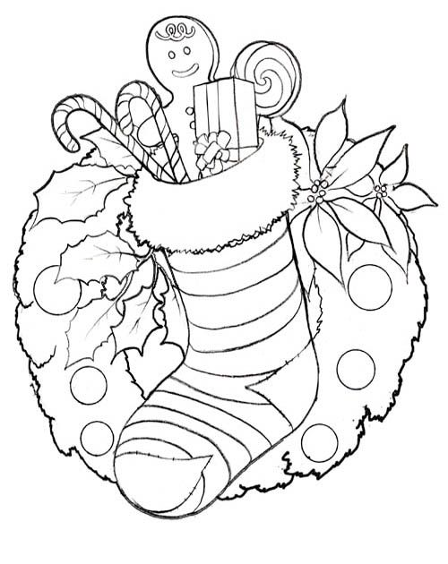 Christmas Coloring Page - Print Christmas Pictures To Color At AllKidsN…  Christmas Pictures To Color, Printable Christmas Coloring Pages, Christmas  Coloring Pages
