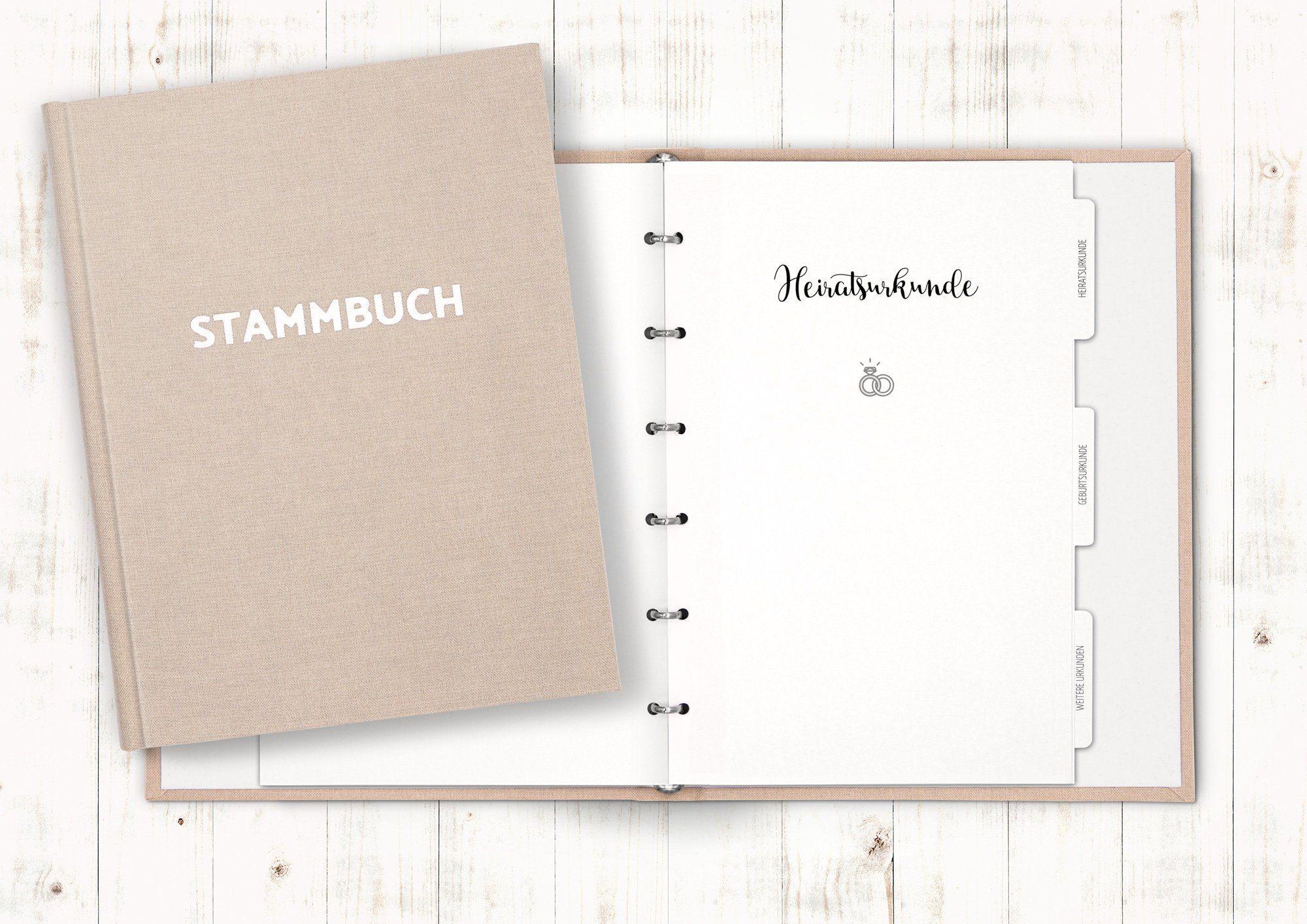 Stammbuch Elegance Familienstammbuch Stammbuch der Familie Hochzeitsdokumente