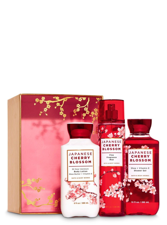Bath Body Works Japanese Cherry Blossom Gift Box Set Japanese Cherry Blossom Japanese Cherry Cherry Blossom