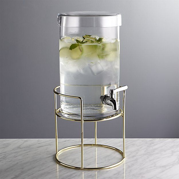 Straight Edge Glass Drink Dispenser 1 5 Gal Crate And Barrel Glass Beverage Dispenser Glass Water Dispenser Drink Dispenser Glass water dispenser with stand