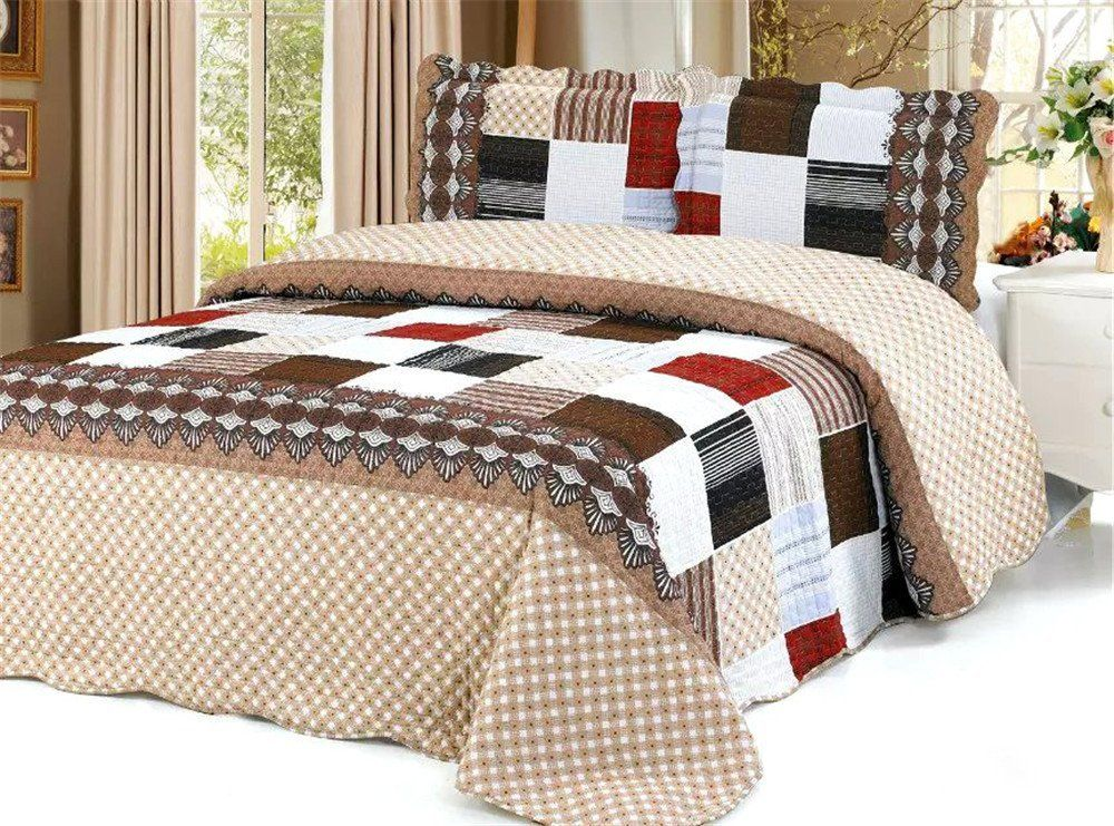Auvoua 3 PCS Quilt Bedspread Blanket Cover Dusty Pink bedspread ... : bedspreads and quilts on sale - Adamdwight.com