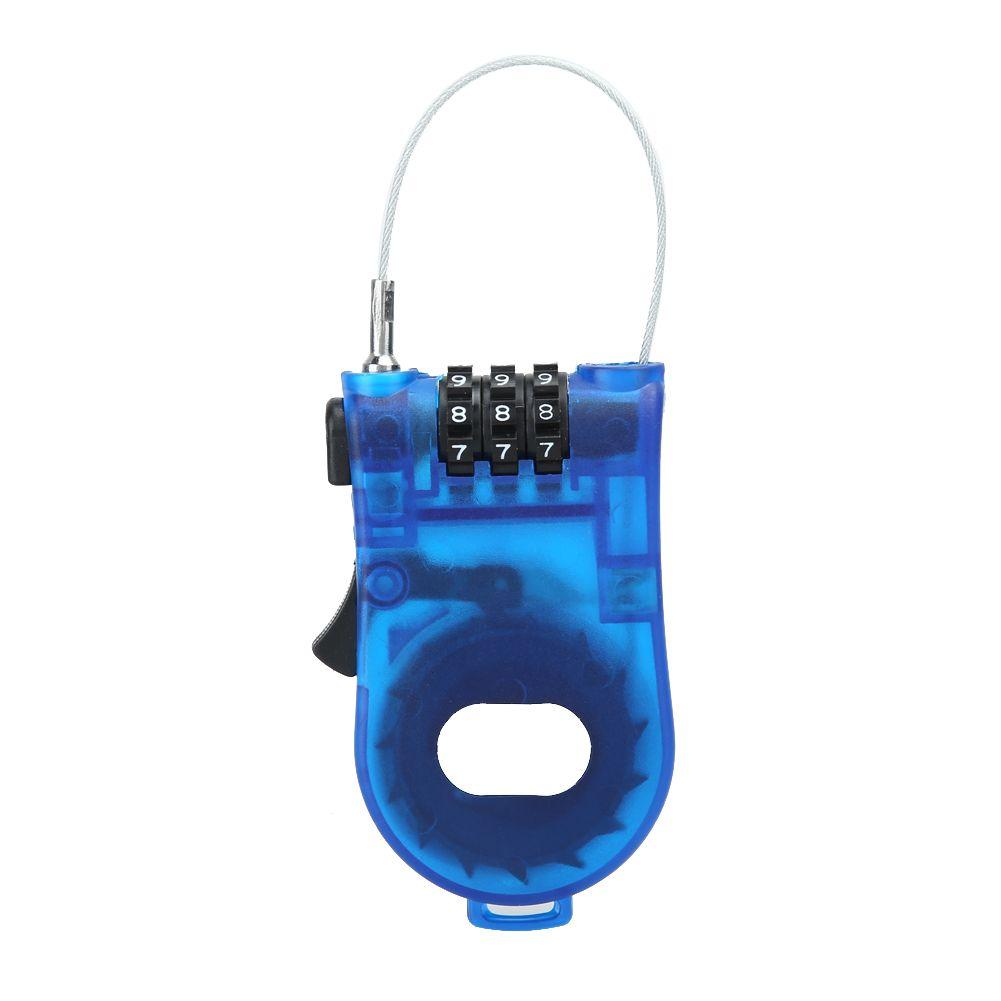 Tragbare Einziehbare Fahrrad Kombination Kabel Code Lock Helm ...