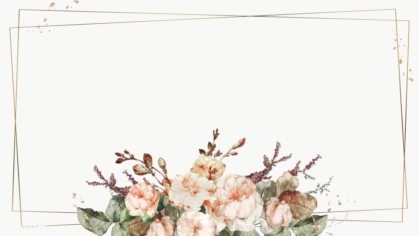 Vintage Floral Frame Illustration Transparent Png Premium Image By Rawpixel Com Nap Vintage Floral Backgrounds Flower Illustration Flower Design Vector