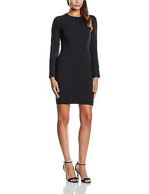 14 Black Black Axara Womens Body con Plain unicolor 3 4 Sleeve Dress NEW