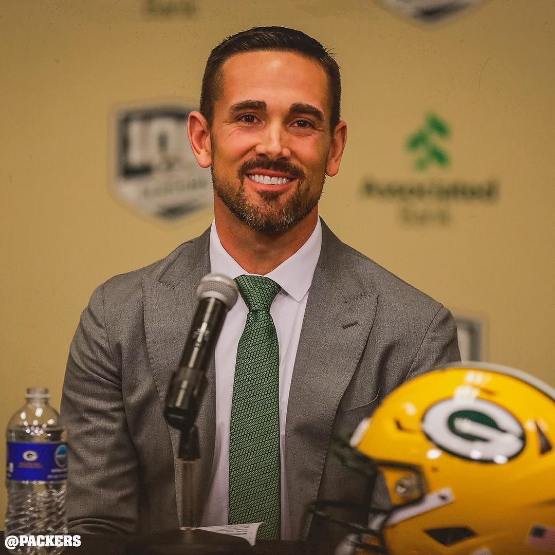 Packers Tap Twice To Welcome Head Coach Matt Lafleur To The Green Bay Packers Gopackgo Green Bay Packers Green Bay Packers Merchandise Green Bay