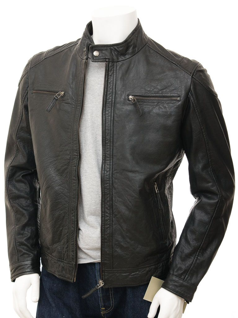 Buy Mens Leather Biker jacket at Leathernxg | Mens Leather Biker ...