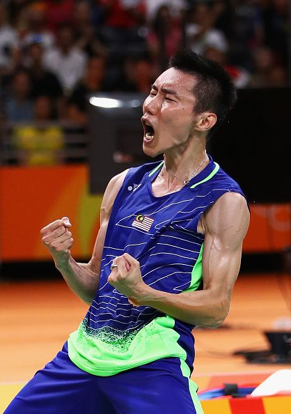 Chong Wei Lee Of Malaysia Celebrates After Defeating Dan Lin Of China During The Badminton Pictures Badminton Sport Badminton