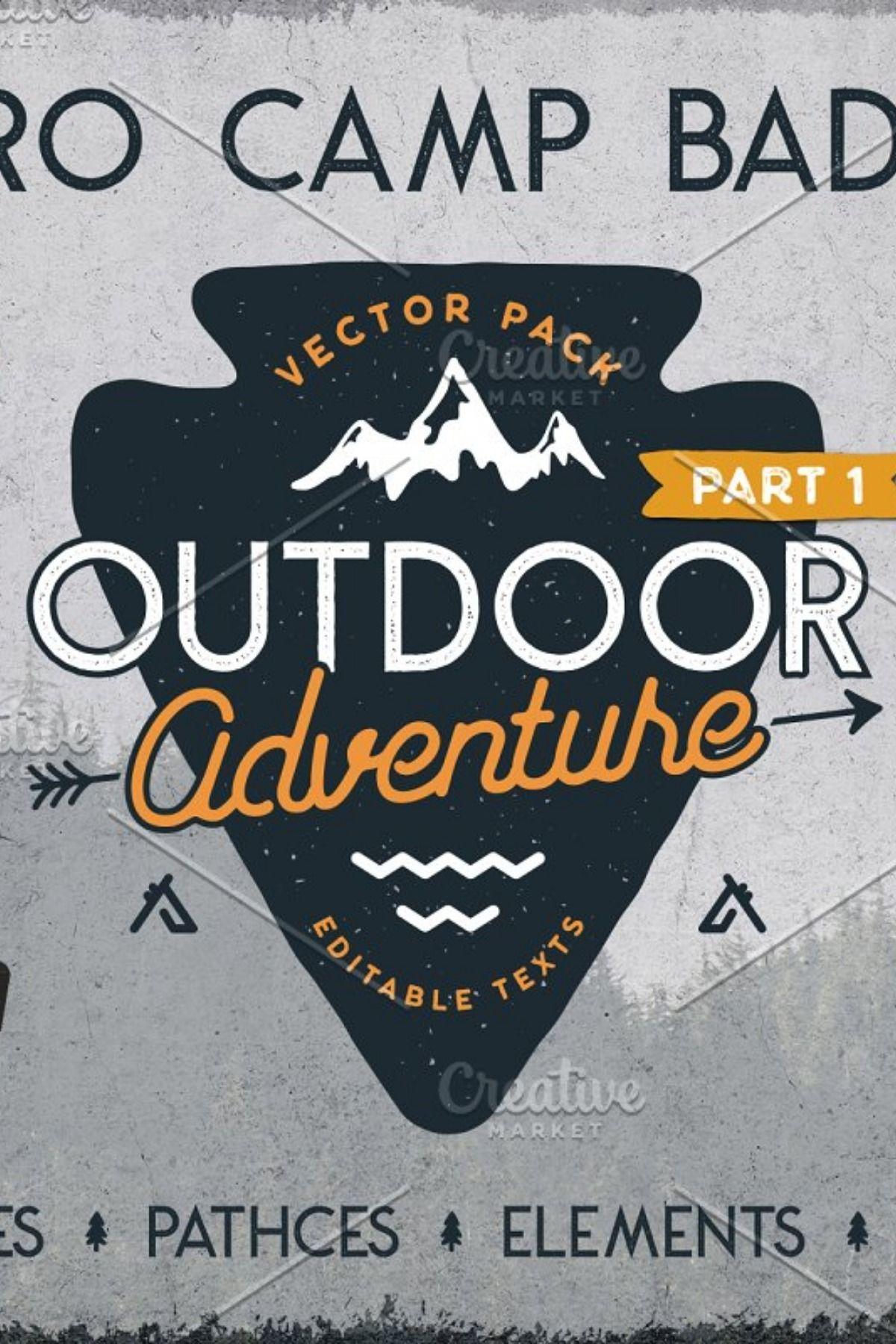 Retro Camp Badges / Outdoor Patches Adventure logo