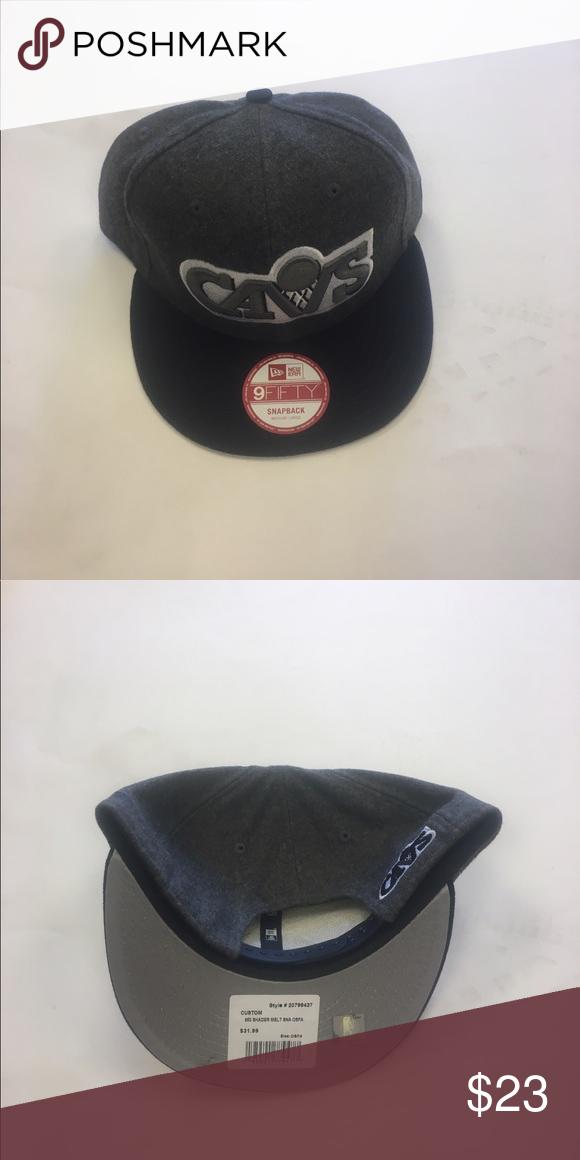 de62a2cdce4 Cleveland Cavs New Era Snapback Hat Cleveland Cavaliers New Era M L Gray  Snapback Hat New Era Accessories Hats