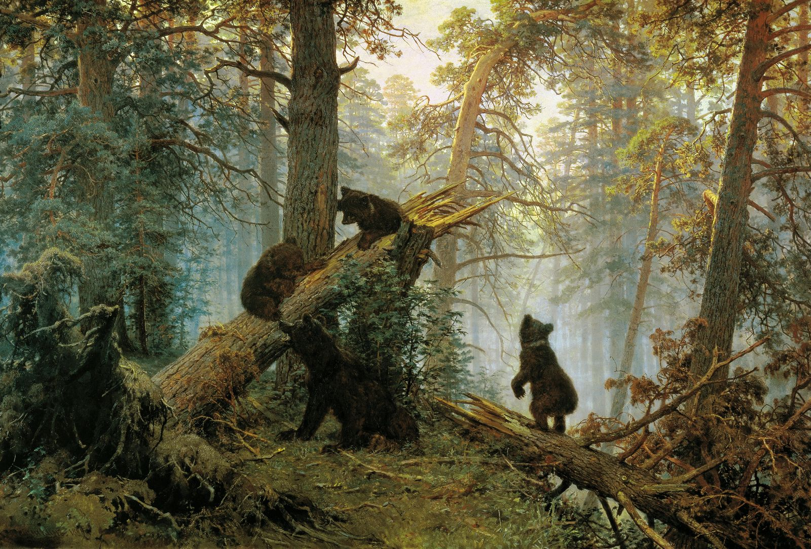 The athenaeum morning in a pine forest ivan ivanovich shishkin