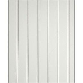 Shop Fashionwall 3 16 In X 4 Ft X 8 Ft Trubead Hardboard Wallpanel 47 75 In X 7 98 Ft Edge And Center Bead Wall Paneling Wainscoting Panels White Wood Paneling