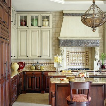 Kitchens With Different Color Upper And Lower Cabinets  Google Captivating Upper Kitchen Cabinets 2018